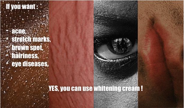 éclaircissement de la peau noire