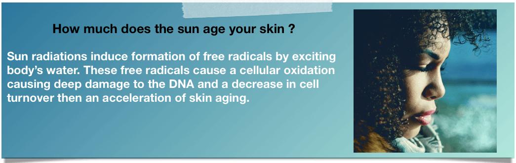 black skin aging