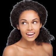 Femme noire peau éclatante