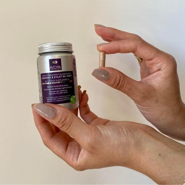 Food supplements to eliminate hyperpigmentation spots