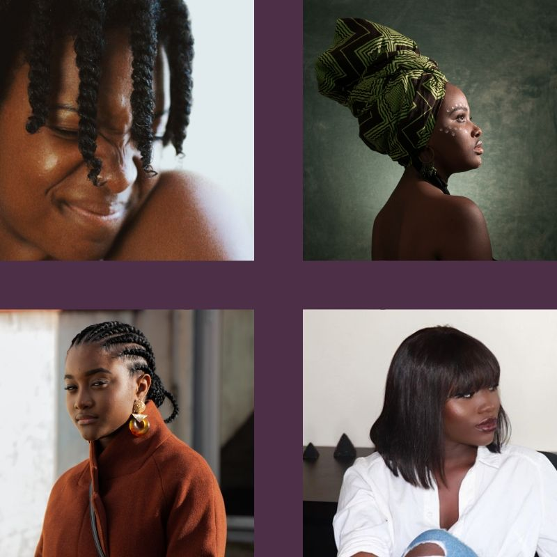 Exemples de coiffures protectrices