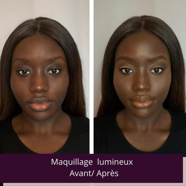 Maquillage éclat naturel peu noire
