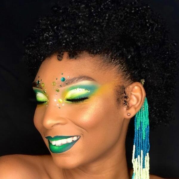 Maquillage fluo peau noire